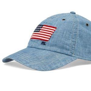 Flag Baseball Cap Strapback Hat Blue $50+
